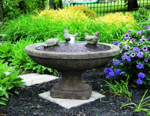 16 inches Singing Birds Oval Fountain