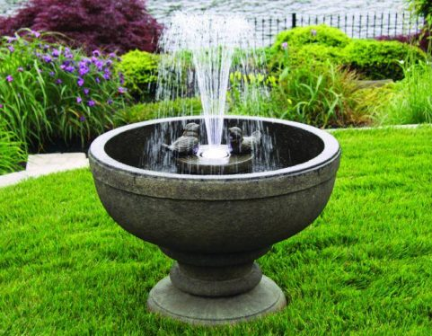 26 inches Fleur De Lis Bird Fountain