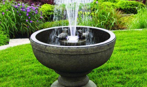 26 inches Fleur De Lis Bird Fountain