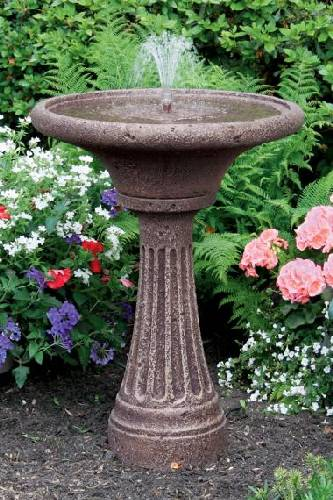 30 Inches-Chelsea Fleur De Lis Fluted Fountain