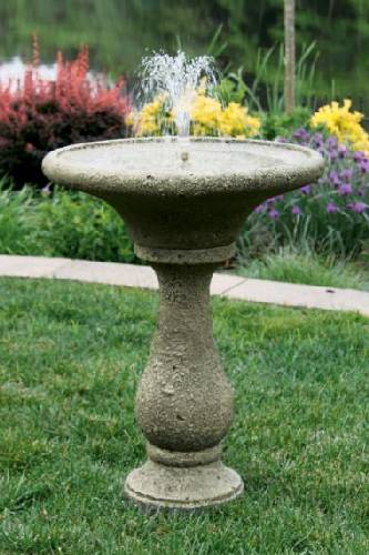 30 Inches-Chelsea Fleur De Lis Round Fountain