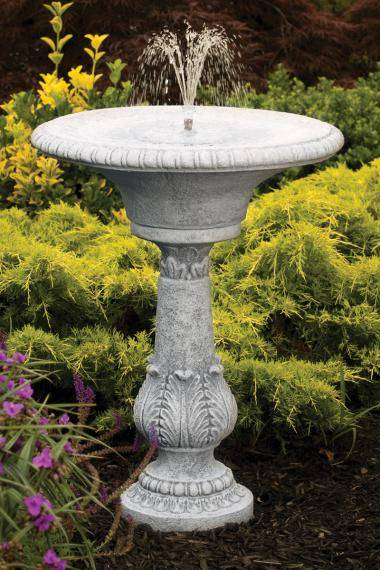 30 inches Fern Leaf Fleur De Lis Fountain