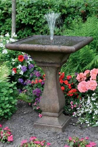 30Inches-Chelsea Fleur De Lis Square Fountain