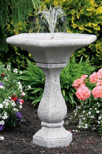 30inches-Chelsea Fleur De Lis Hexagon Fountain