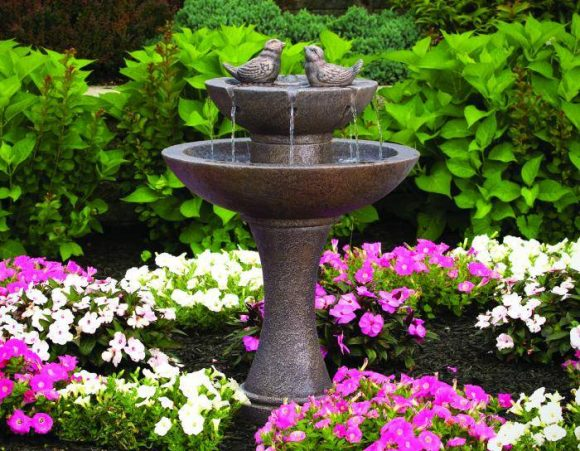 34 inches Tranquillity Spill Fountain With Birds