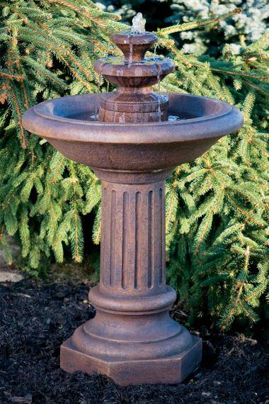 38 inches Roman Fluted Fountain