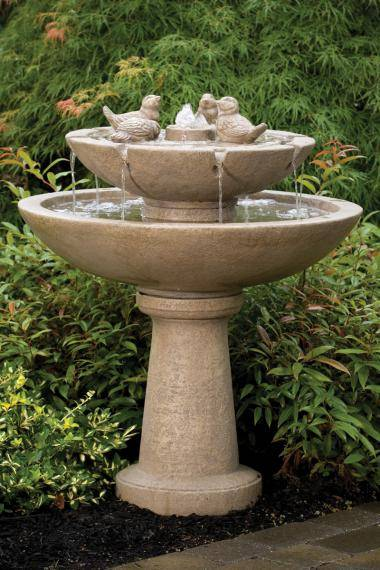 39 inches Tranquillity Spill Fountain With Birds