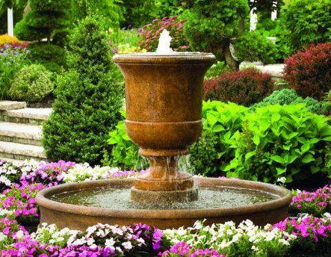 40 Inches Cento Urn on 6' Pool Fountain