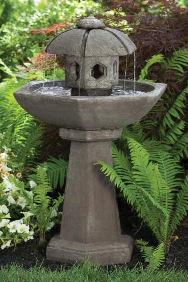 42 inches Spring Rain Pagoda Fountain