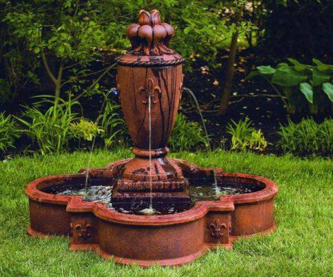 43 inches Fleur De Lis Vase Fountain