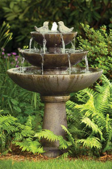 44 inches Tranquillity Spill Fountain With Birds