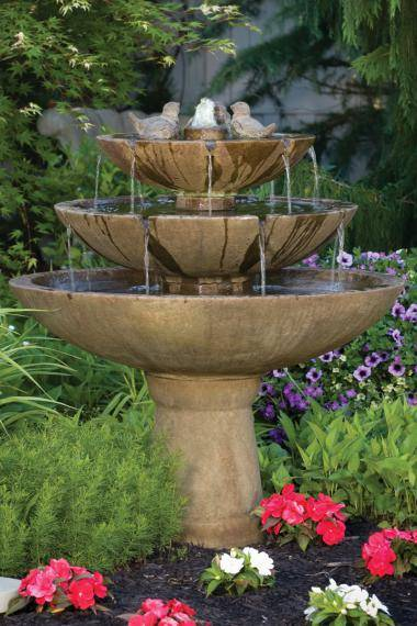 48 inches Tranquillity Spill Fountain With Birds