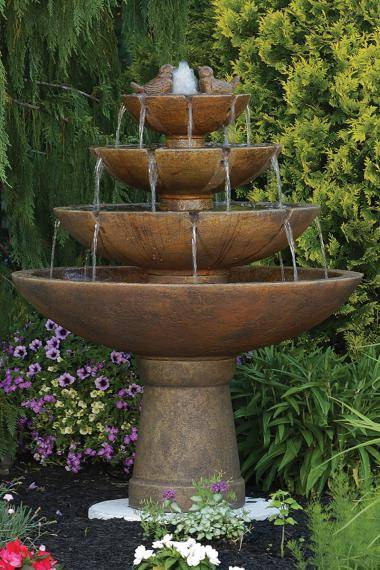 53 inches Tranquillity Spill Fountain With Birds