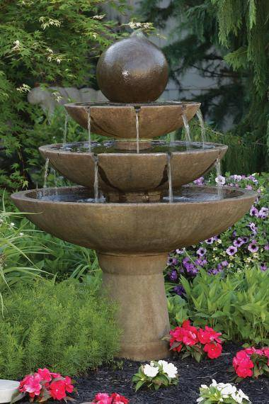 55 inches Tranquillity Sphere Spill Fountain