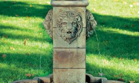 58 Inches Milano Urn Lion Fountain