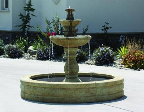 60 inches Two Tier Lane Fountain On 5' Fiberglass Pool