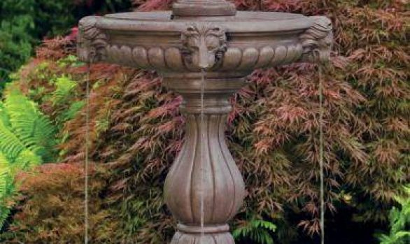 62 inches Roman Pinecone Finial Fountain