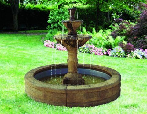 63 inches Three Tier Cortona Fountain on 5' Fiberglass Pool
