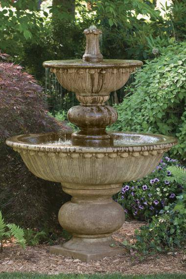 67 inches Florentine Fountain With Globed Pedestal