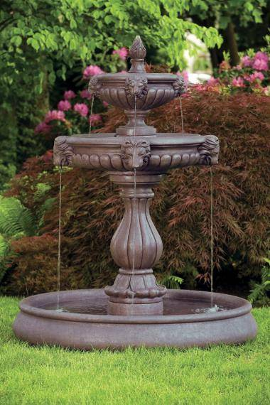 70 inches Classic Lion Head Fountain With Pool
