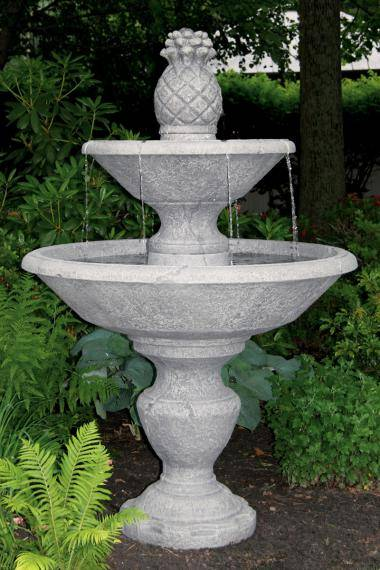72 Inches Two Tier Cortona Fountain With 14 inches Pineapple