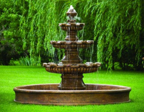 75 inches Three Tier Renault Fountain On 8' Pool