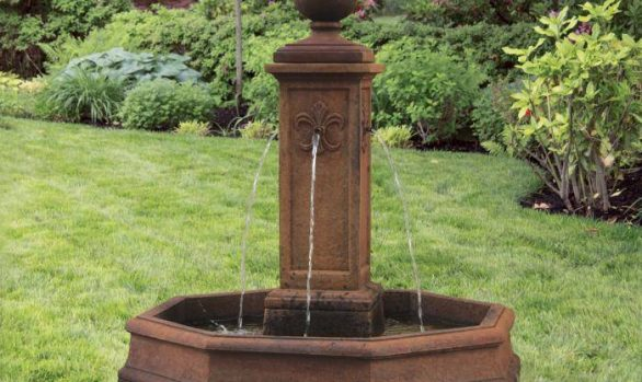 78 inches Fleur De Lis Globe Fountain
