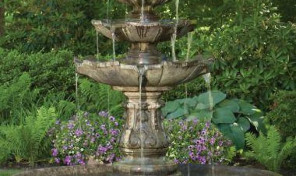 79 inches Classic Four Tier Fountain On 6' Pool