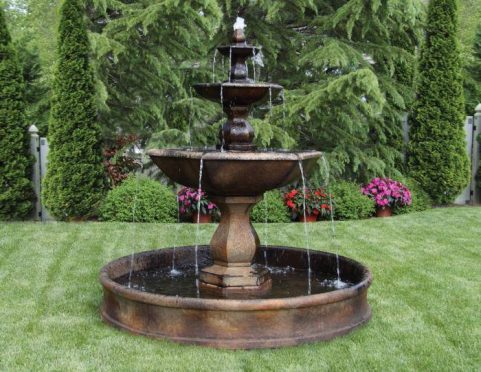 79 inches Three Tier Boca Hexagon Fountain on 6' Pool