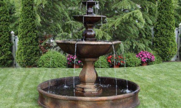 79 inches Three Tier Boca Hexagon Fountain on 6' Pool