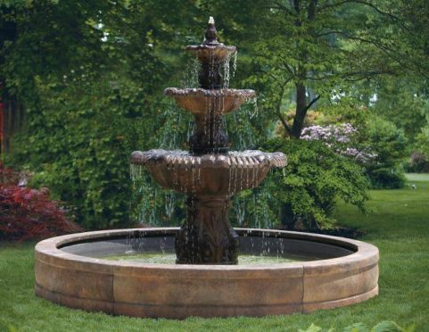 80 Inches Calabria Fountain with Surround and 8' Fiberglass Pool