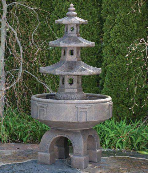 80 inches Three Tier Pagoda Fountain