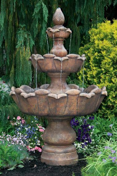 80 inches Three Tier Petal Leaf Fountain