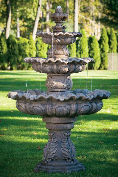 86 inches Three Tier Scallop Fountain