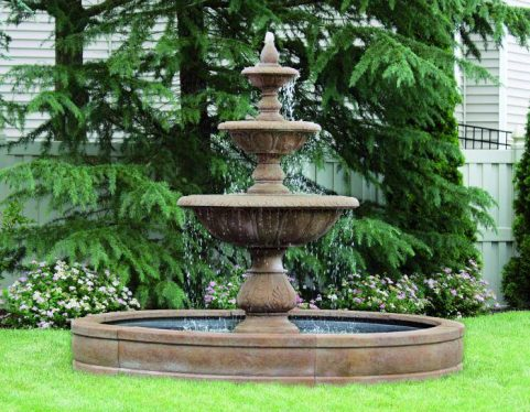 88 inches Windley Key Fountain with Surround and 8' Fiberglass Pool