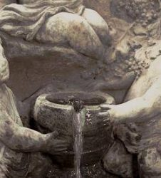 Cherub With Grapes Wall Fountain 2