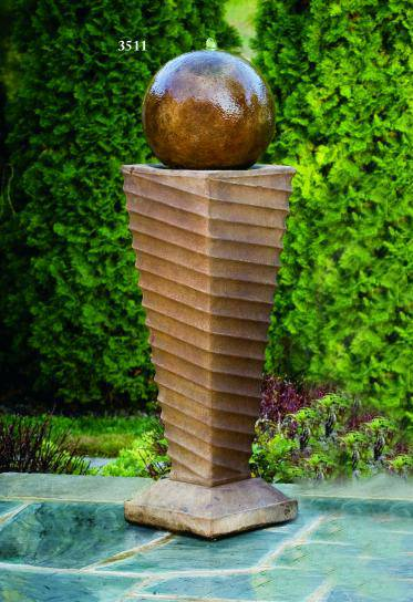 """45"""" Contemporary Swirl Fountain"""