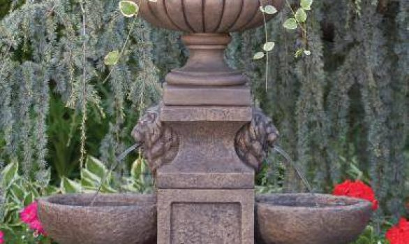 Double Bowl Fountain With Milano Urn