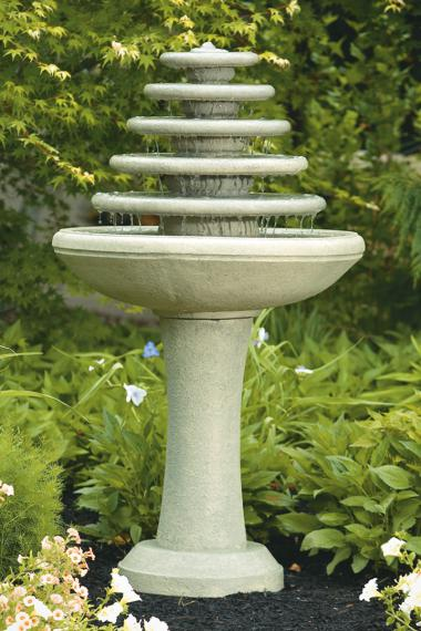 Five Tier Gozo Fountain On Pedestal
