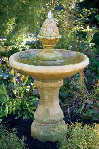 One Tier Roman Pinecone Fountain