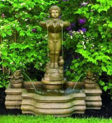 Standing Cherub With Frogs Fountain