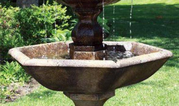 Three Tier Boca Hexagon Fountain