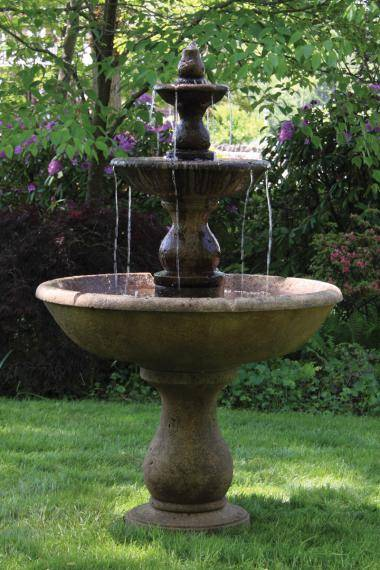Three Tier Boca Round Fountain