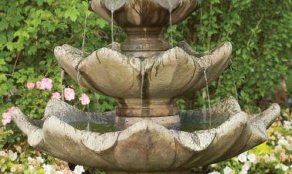 Three Tier Tulip Leaf Fountain