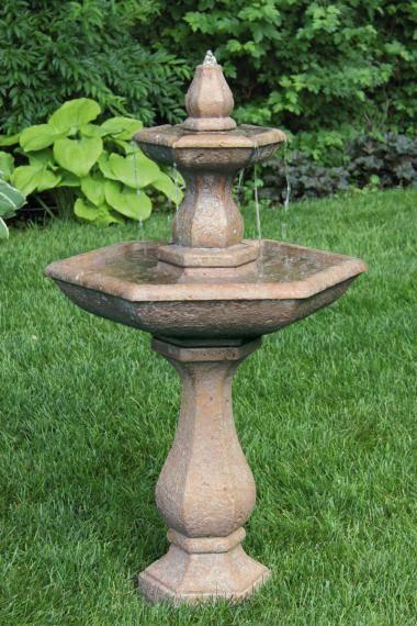 Two Tier Boca Hexagon Fountain